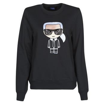 Textil Mulher Sweats Karl Lagerfeld IKONIK KARL SWEATSHIRT Preto