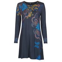 Textil Mulher Vestidos curtos Desigual WASHINTONG Azul