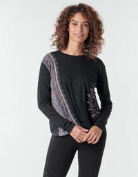 Textil Mulher T-shirt mangas compridas Desigual MARSELLA Marinho