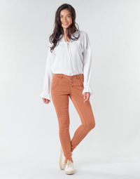 Textil Mulher Calças Cream HOLLY CR TWILL Castanho