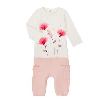 Textil Rapariga Conjunto Catimini CR36001-11 Branco / Rosa