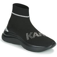 Sapatos Mulher Sapatilhas de cano-alto Karl Lagerfeld SKYLINE KARL RHINESTONE PULL ON BT Preto