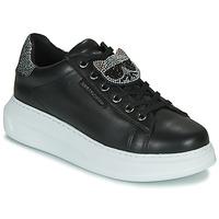Sapatos Mulher Sapatilhas Karl Lagerfeld KAPRI IKONIC TWIN LO LACE Preto