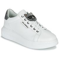 Sapatos Mulher Sapatilhas Karl Lagerfeld KAPRI IKONIC TWIN LO LACE Branco / Prata