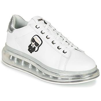 Sapatos Mulher Sapatilhas Karl Lagerfeld KAPRI KUSHION KARL IKONIC LO LACE Branco / Prata