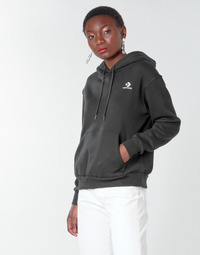 Textil Mulher Sweats Converse CONVERSE WOMENS FOUNDATION PULLOVER HOODIE Preto