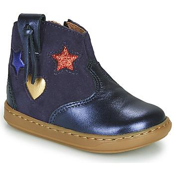 Sapatos Rapariga Sapatilhas de cano-alto Shoo Pom BOUBA WEST Azul