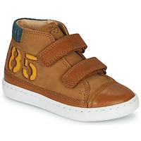 Sapatos Rapaz Sapatilhas de cano-alto Shoo Pom PLAY ALPHA Castanho