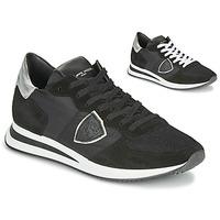 Sapatos Mulher Sapatilhas Philippe Model TROPEZ X BASIC Preto / Prateado