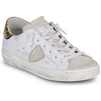 Sapatos Mulher Sapatilhas Philippe Model PARIS X VEAU CROCO Branco / Ouro