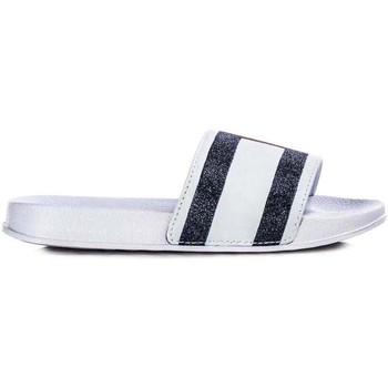 Sapatos chinelos Tommy Hilfiger Kids FLAG PRINT POOL SLIDE blanco