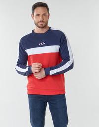 Textil Homem Sweats Fila CREW SWEATER Azul / Branco / Vermelho