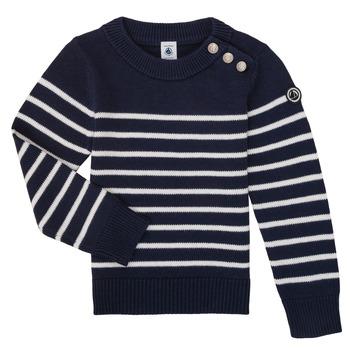 Textil Criança camisolas Petit Bateau LOX Marinho / Branco