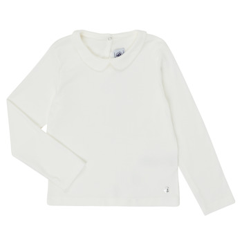Textil Rapariga T-shirt mangas compridas Petit Bateau LOVING Branco