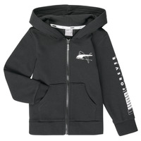 Textil Rapaz Sweats Puma ALPHA HOODED JACKET Preto