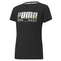 Textil Rapariga T-Shirt mangas curtas Puma ALPHA TEE 165 Preto