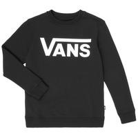 Textil Rapaz Sweats Vans VANS CLASSIC CREW Preto