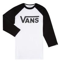 Textil Rapaz T-shirt mangas compridas Vans VANS CLASSIC RAGLAN Preto / Branco