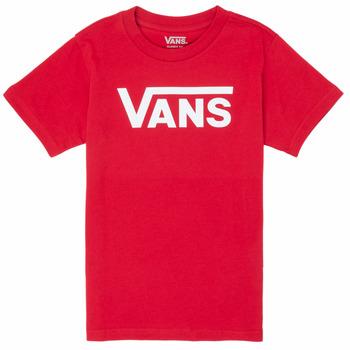 Textil Rapaz T-Shirt mangas curtas Vans BY VANS CLASSIC Vermelho