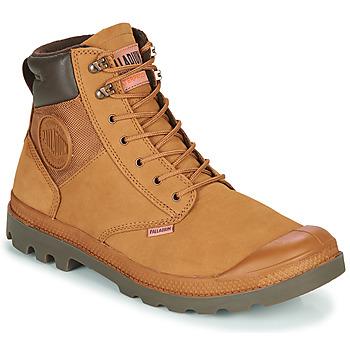 Sapatos Homem Botas baixas Palladium PAMPA SHIELD WP+ LUX Castanho