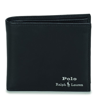 Malas Homem Carteira Polo Ralph Lauren GLD FL BFC-WALLET-SMOOTH LEATHER Preto