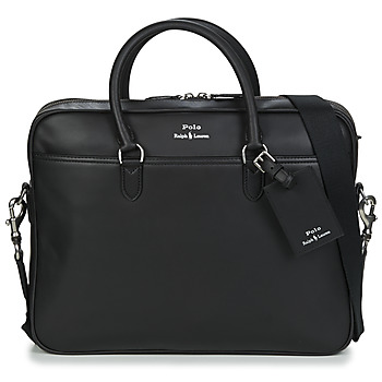 Malas Homem Porta-documentos / Pasta Polo Ralph Lauren COMMUTER-BUSINESS CASE-SMOOTH LEATHER Preto