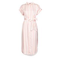 Textil Mulher Vestidos compridos Lauren Ralph Lauren CICERO Branco / Rosa
