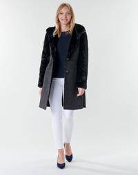 Textil Mulher Casacos Lauren Ralph Lauren COMBO FX SH-COAT Preto