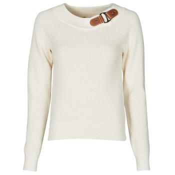 Textil Mulher camisolas Lauren Ralph Lauren DERYNA Creme