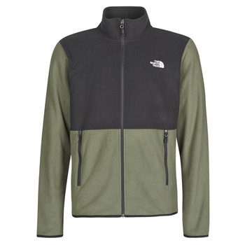 Textil Homem Casaco polar The North Face TKA GLACIER FULL ZIP JACKET Toupeira / Verde / Tnf / Preto