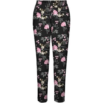 Textil Mulher Calças finas / Sarouels Vero Moda 10227814 VMSIMPLY EASY NW LOOSE PANT WMN GA Negro