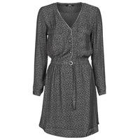 Textil Mulher Vestidos curtos Le Temps des Cerises RABA Cinza / Preto