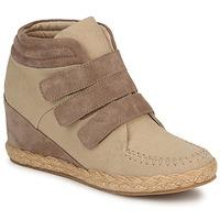 Sapatos Mulher Sapatilhas de cano-alto No Name SPLEEN STRAPS Bege / Toupeira