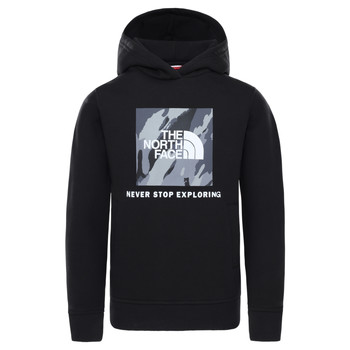 Textil Rapaz Sweats The North Face NEW BOX CREW HODDIE Preto