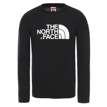 Textil Rapaz T-shirt mangas compridas The North Face EASY TEE LS Preto