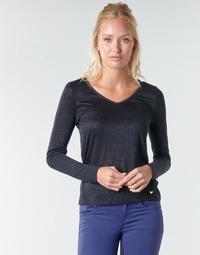 Textil Mulher T-shirt mangas compridas Les Petites Bombes ADRIANA Preto