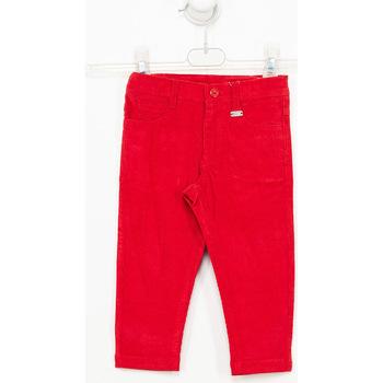 Textil Rapaz Calças Tutto Piccolo Pantalones de pana Vermelho