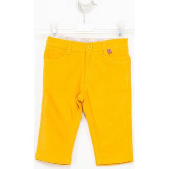 Textil Rapaz Calças Tutto Piccolo Pantalones de ante Amarelo