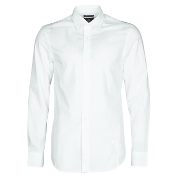 Textil Homem Camisas mangas comprida G-Star Raw DRESSED SUPER SLIM SHIRT LS Branco