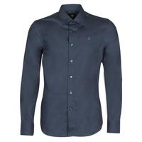 Textil Homem Camisas mangas comprida G-Star Raw DRESSED SUPER SLIM SHIRT LS Azul