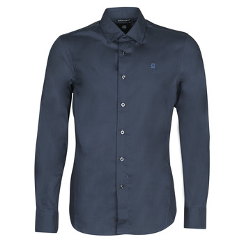 Textil Homem Camisas mangas comprida G-Star Raw DRESSED SUPER SLIM SHIRT LS Azul