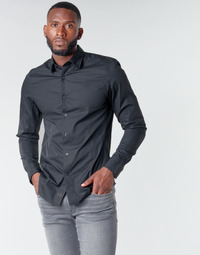 Textil Homem Camisas mangas comprida G-Star Raw DRESSED SUPER SLIM SHIRT LS Preto