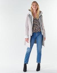 Textil Mulher Casacos Oakwood LILIANA BI Marfim / Cinza