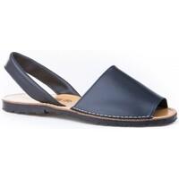 Sapatos Mulher Sandálias Avarca Cayetano Ortuño Menorquina piel mujer Bleu