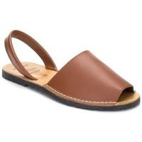 Sapatos Mulher Sandálias Avarca Cayetano Ortuño Menorquina piel mujer Marron