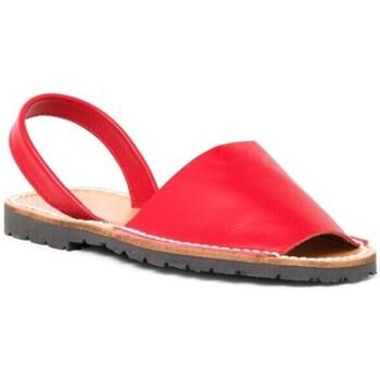 Sapatos Mulher Sandálias Avarca Cayetano Ortuño Menorquina piel mujer Rouge