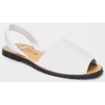 Sapatos Homem Sandálias Avarca Cayetano Ortuño Menorquina piel mujer Blanc