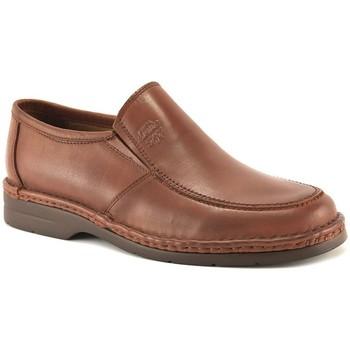 Sapatos Homem Mocassins Comodo Sport Mocasin de piel de hombre by Marron