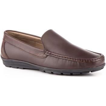 Sapatos Homem Mocassins Iberico Shoes Mocasin de hombre de piel by Nautic Marron