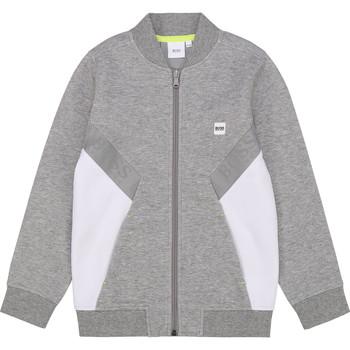 Textil Rapaz Sweats BOSS J25G80 Cinza